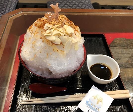 ★奈良・萬勝堂のかき氷「くず切り氷」