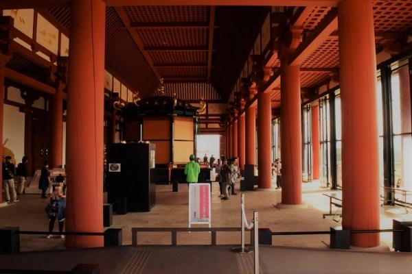 ★秋の奈良一人旅・平城宮跡2。第一次大極殿の内観
