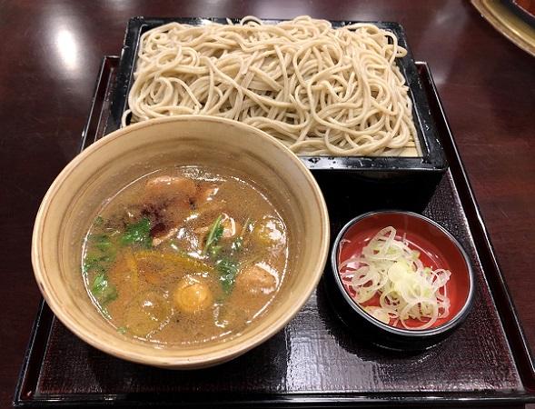 ★201812日本橋の老舗蕎麦屋さん「紅葉川」の鴨せいろ。