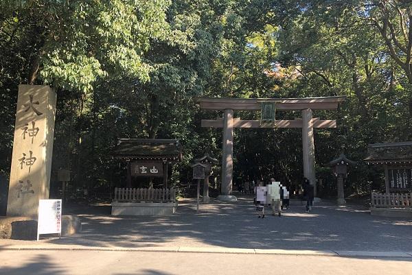 奈良一人旅で山の辺の道・大神神社