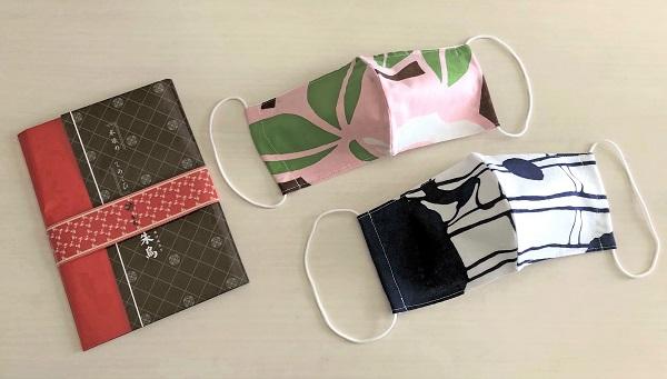 202006夏の奈良一人旅。「朱鳥なら町長屋ひがしむき店」で買った、手ぬぐい立体マスク.j