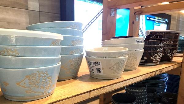 202009美濃焼の「みのる陶器」のハリネズミ柄の食器