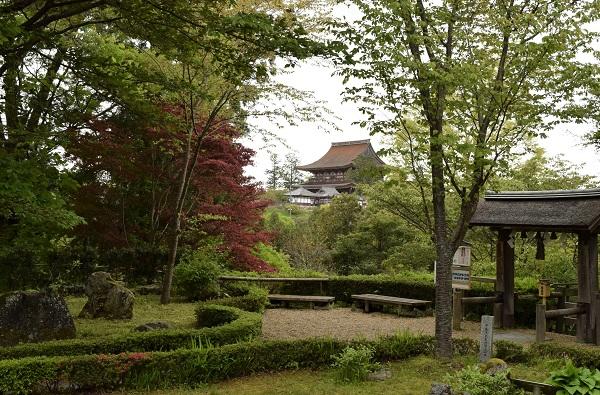 202104春の奈良一人旅。吉野山の世界遺産「吉水神社」からも見える「金峯山寺
