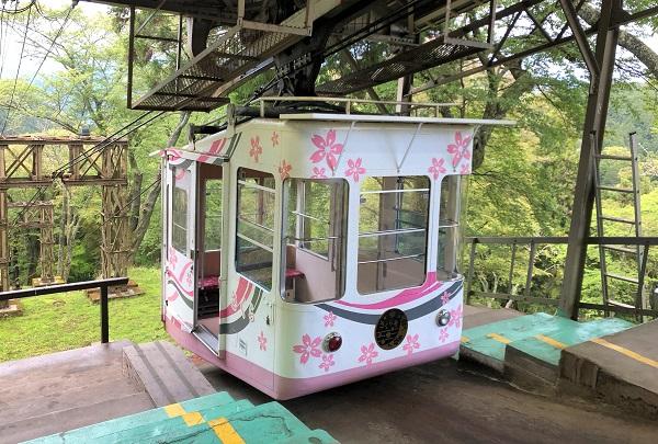 202104奈良・ロープウェイ吉野山から近鉄吉野駅へ