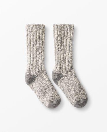Cozy Camp Socks in Heather Grey - main