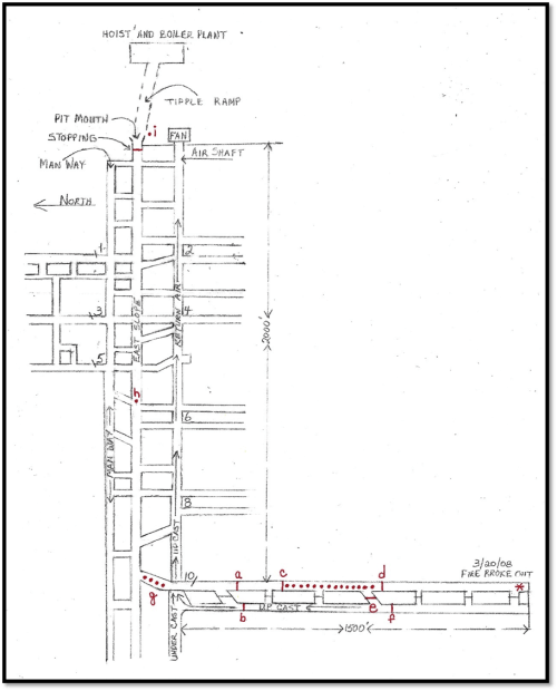 small resolution of figure 4 east slope mine map of the union pacific coal company s hanna mine no 1 after the 1908 explosion note the original diagram has been reproduced