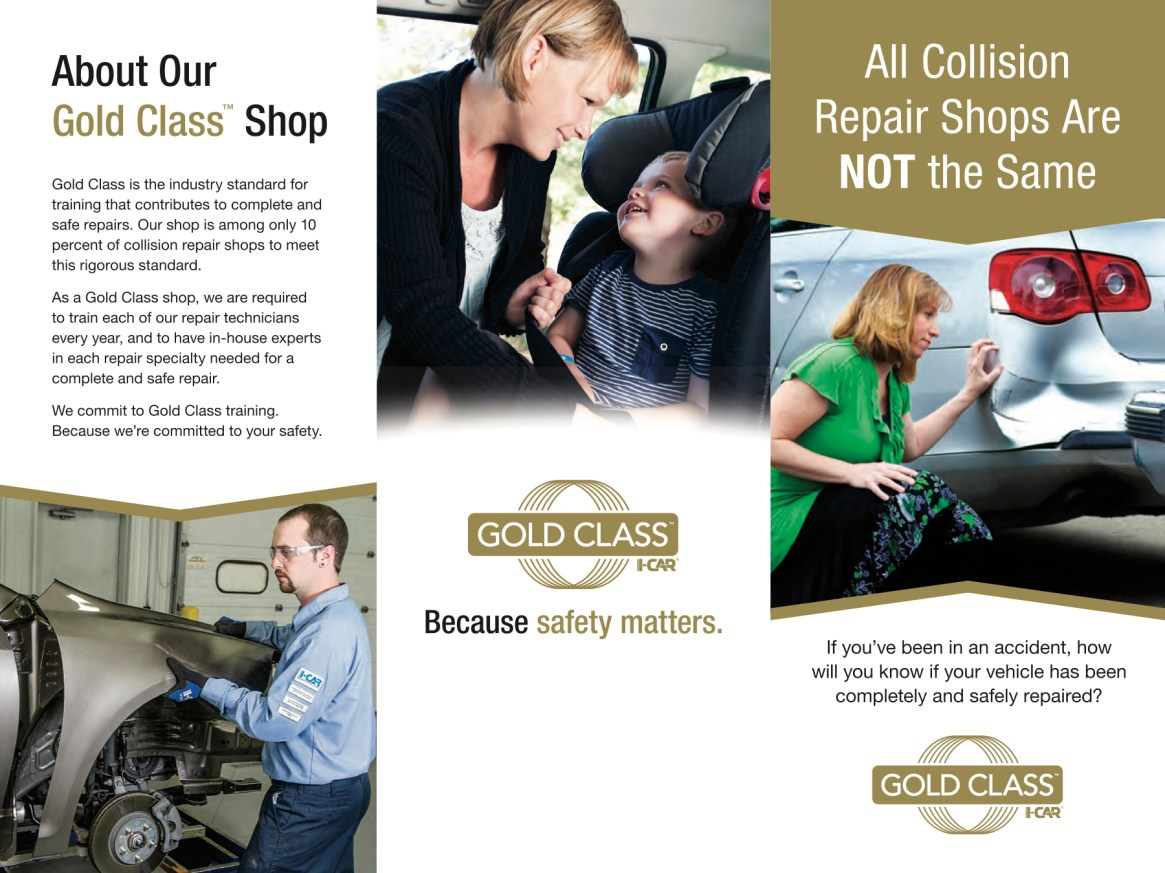 I Car Gold Class Certified Trained Collision Repair Professionals