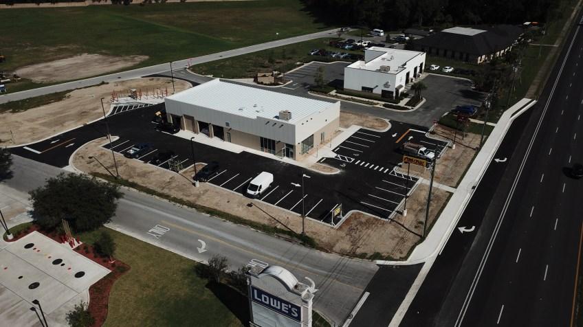 Ground up Construction for a National Tire Company- Ocala, Florida