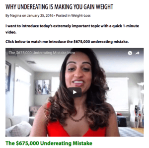 Weight loss and health blogging