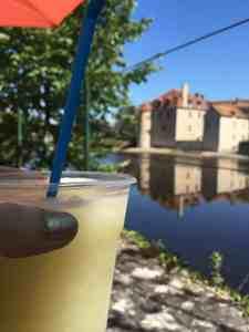 Montmorillon drinks on the terrasse