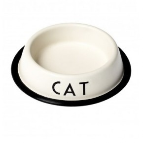 Cat bowl vintage cream, Dotcomgiftshop, £7.95