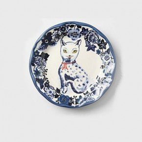 Fine Feline cat plate, Anthropologie, £24