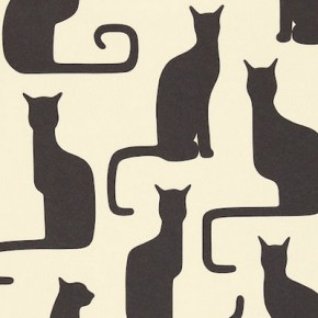 Sanderson Omega Cat wallpaper, Heal's, £41