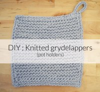 DIY : Knitted Grydelappers (pot holders) - Hannah In The House