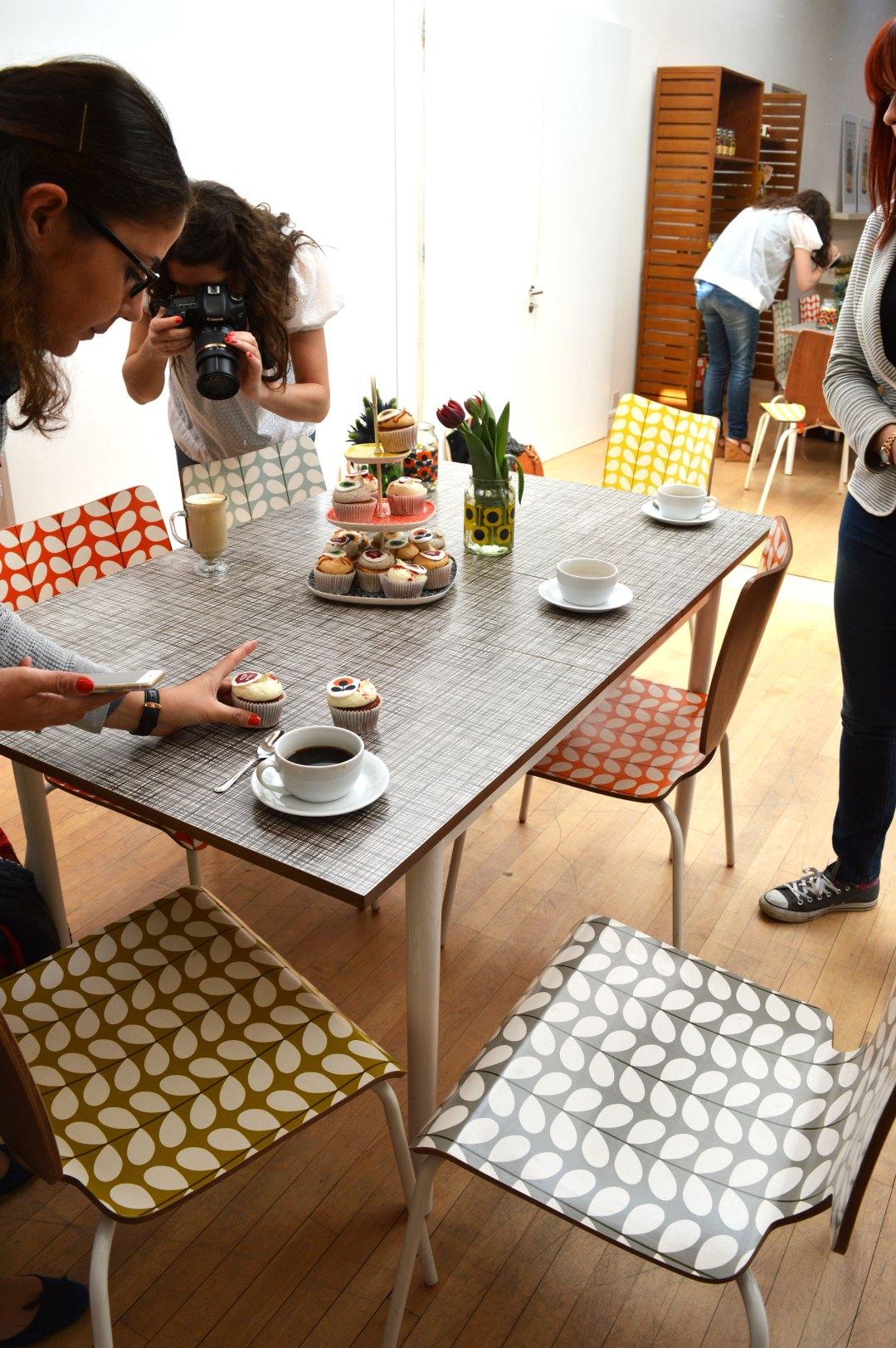 Orla Kiely coffee morning, bloggers