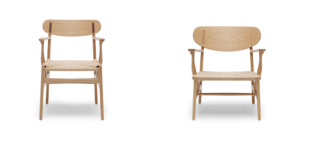 CH26 chair and the CH22 lounge chair by Hans J. Wegner