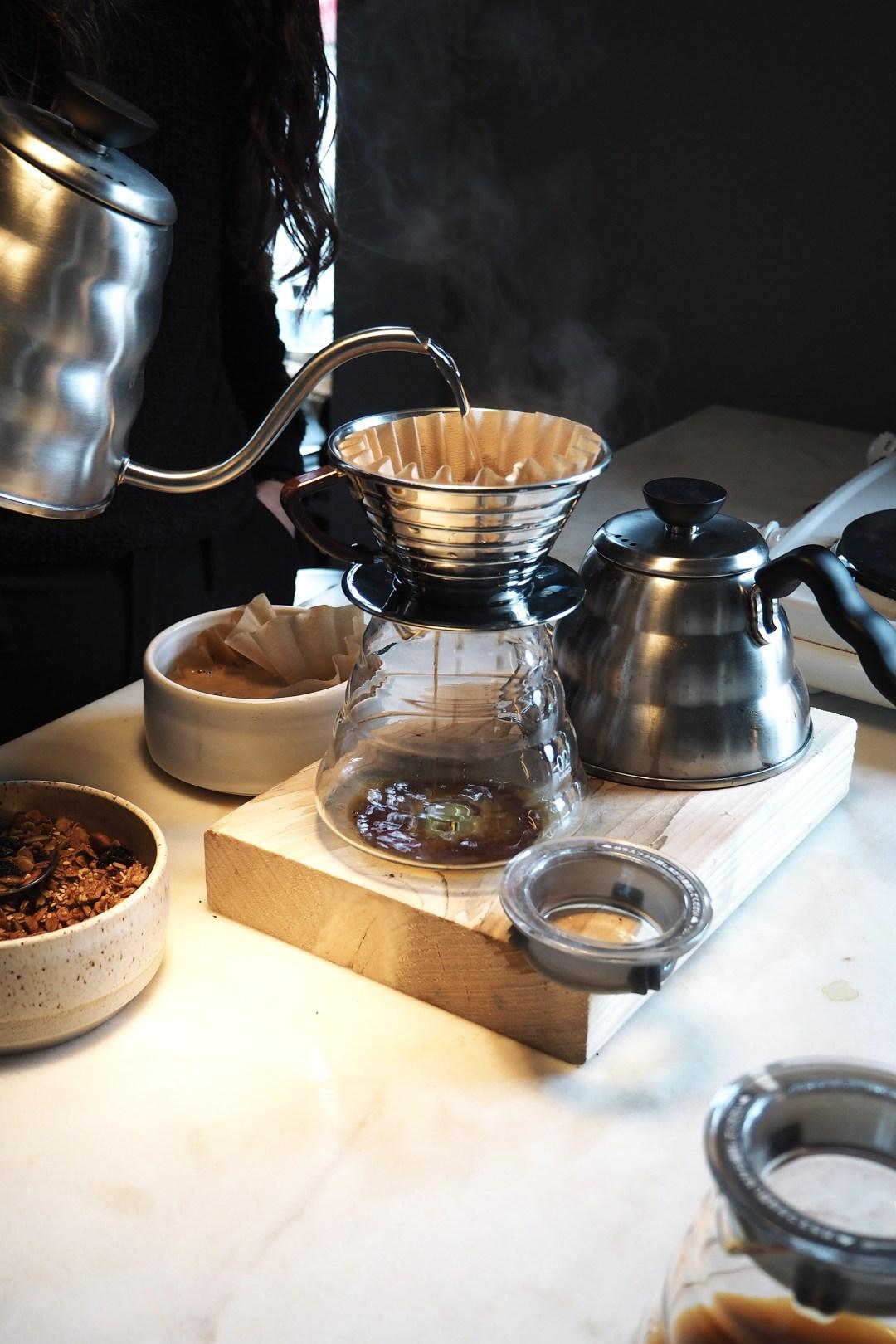 Coffee making at Frama Studio store Copenhagen