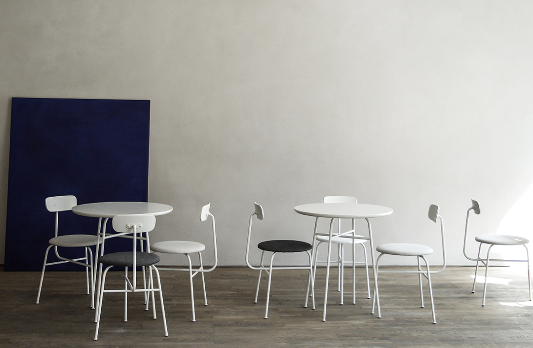 Kinfolk Gallery, norm architects, copenhagen, danish design, menu seating, kabe