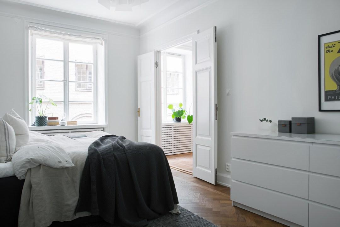 Simple Swedish bedroom
