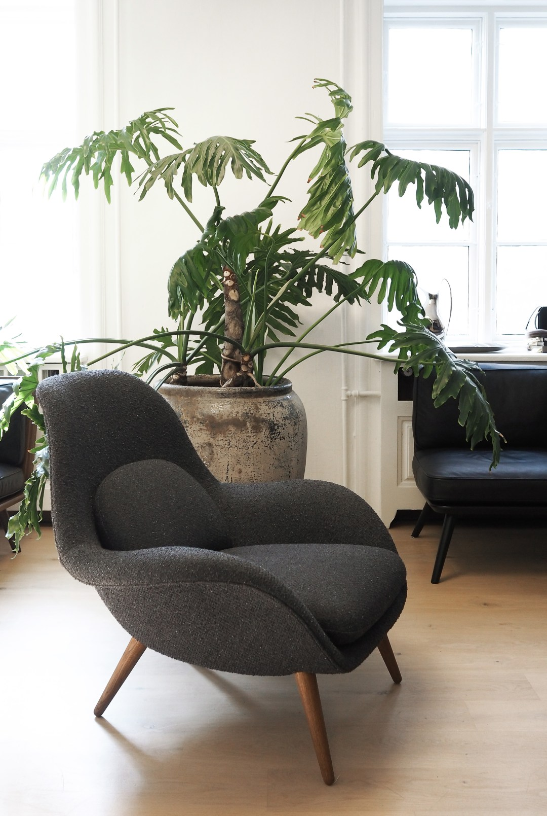 The Swoon Lounge Chair designed by Space Copenhagen for Fredericia. Danish Design