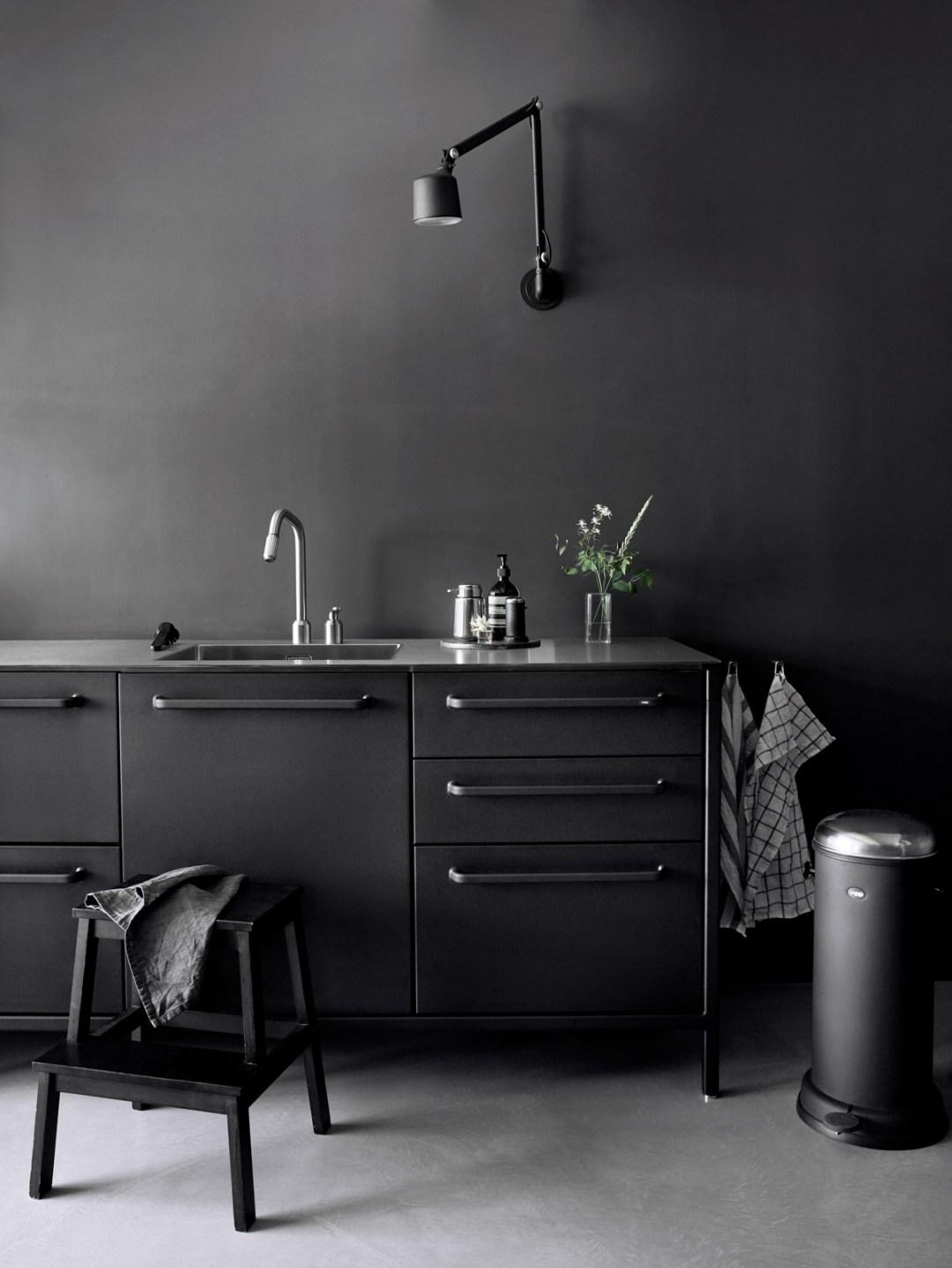 The Vipp kitchen, black kitchen, Scandinavian kitchen