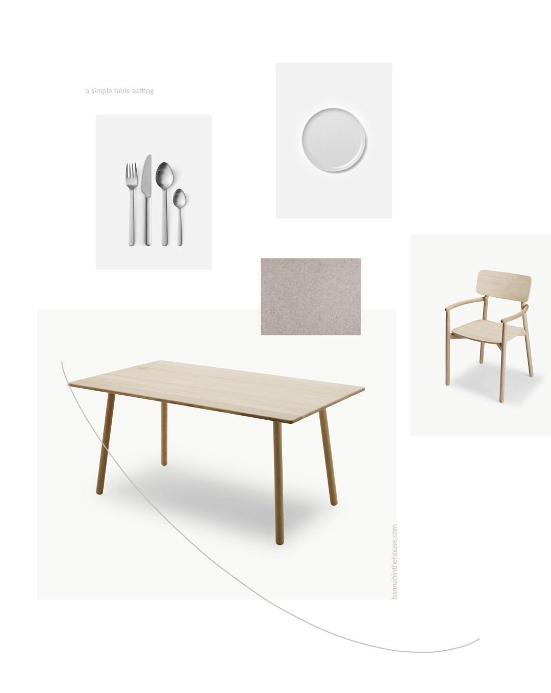 Simple Scandinavian table setting