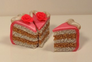 """""""Cake Slices"""" made of polymer clay"""