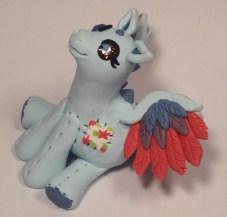 """Pony Dragon"" made of polymer clay and Swarovski crystals"