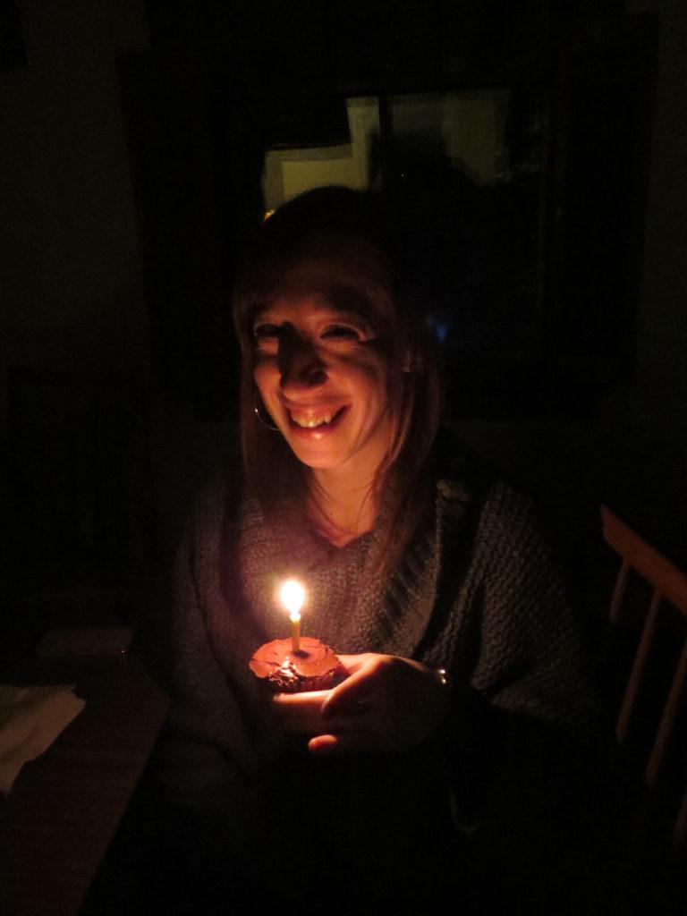 Lindsay's birthday cupcake