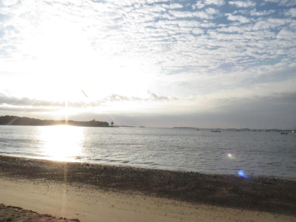 at the beach, feeling grateful