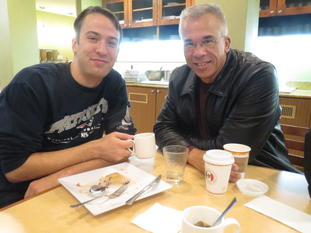 David and Mark @ breakfast