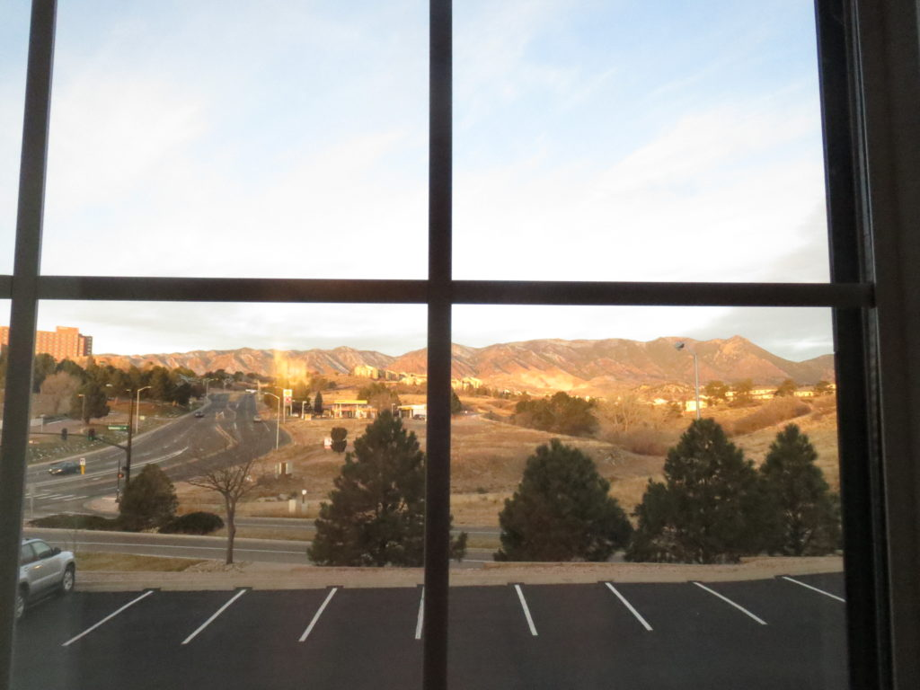 view from the hotel room