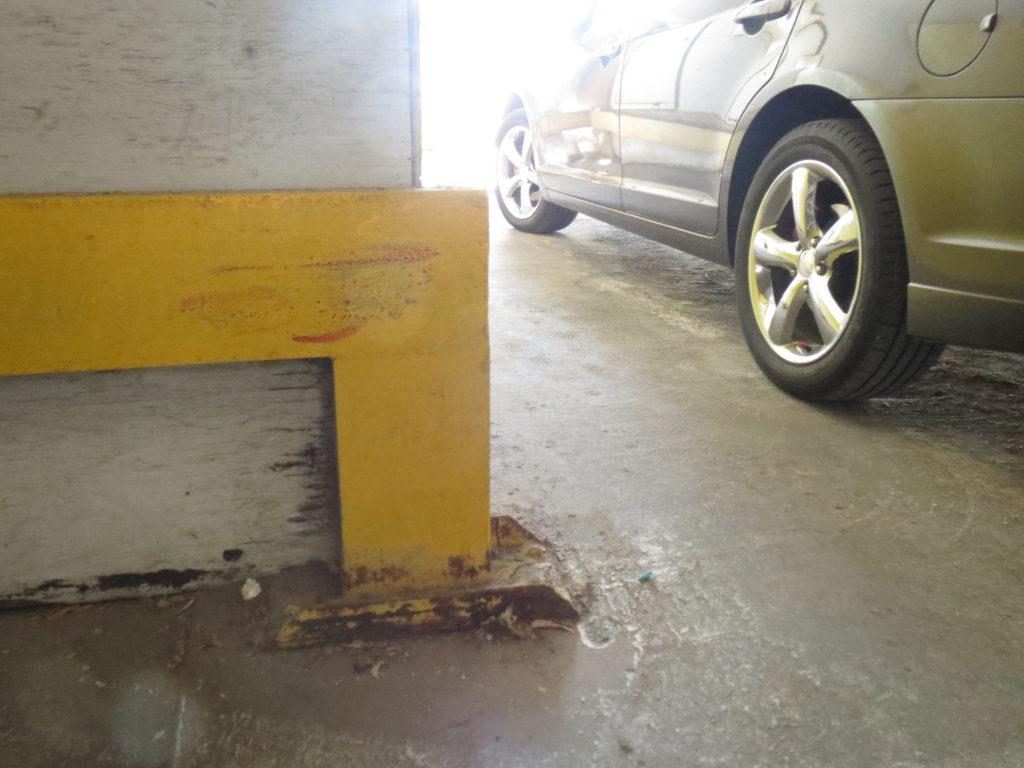 smudged railing