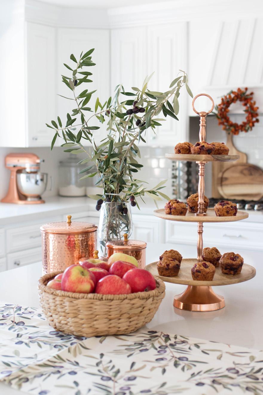 fall kitchen decor omega cabinets