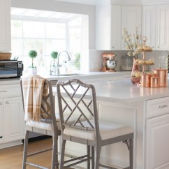 Fall Kitchen Decor Electrical Outlets Are Permanent Fixtures In The But 3 Tier Dessert Stand And Hammered Canisters Saved For Certain Occasions Like Seasonal Decorating
