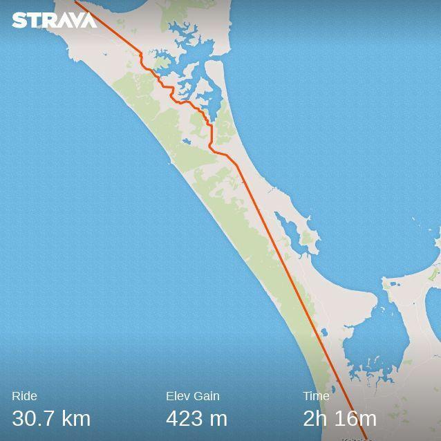 Cape Reinga to Kaitaia (Car, bike, bus)