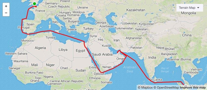 Kerguelen GPS Route Map