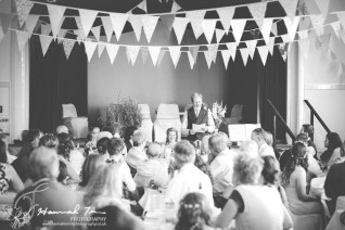 Speeches at the reception venue