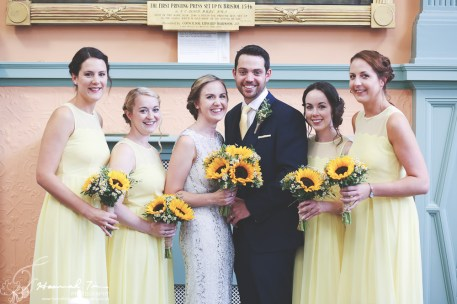Bride & Groom & Bridesmaids