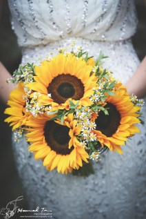 Bride's bouquet sunflowers