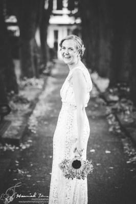 Bridal portrait black & white