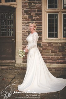 Bridal full length portrait