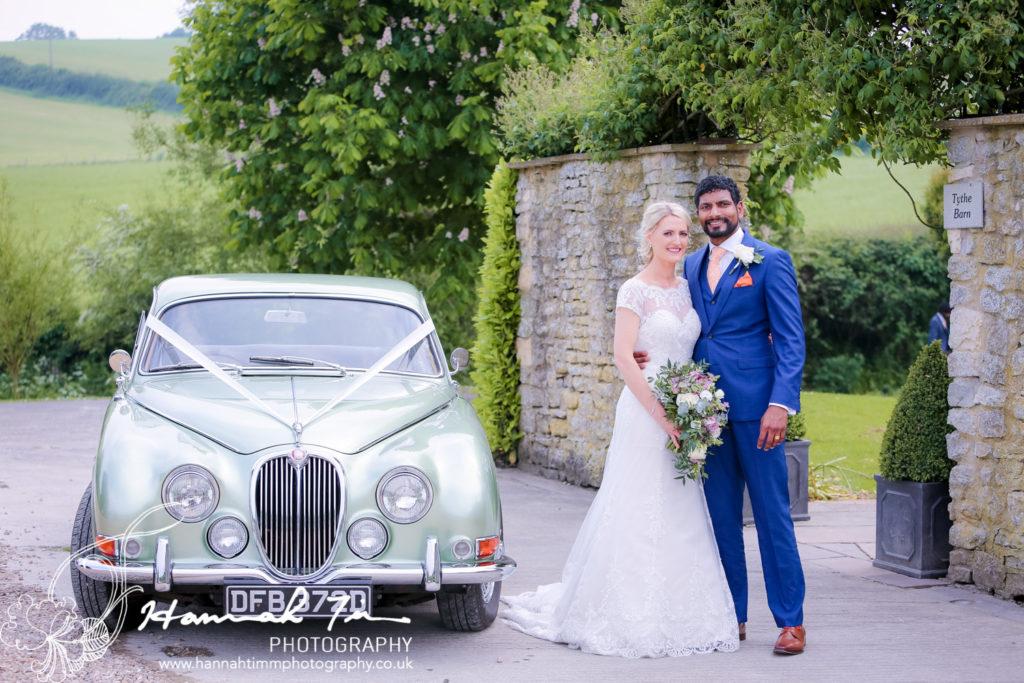 Bridal car wedding photography