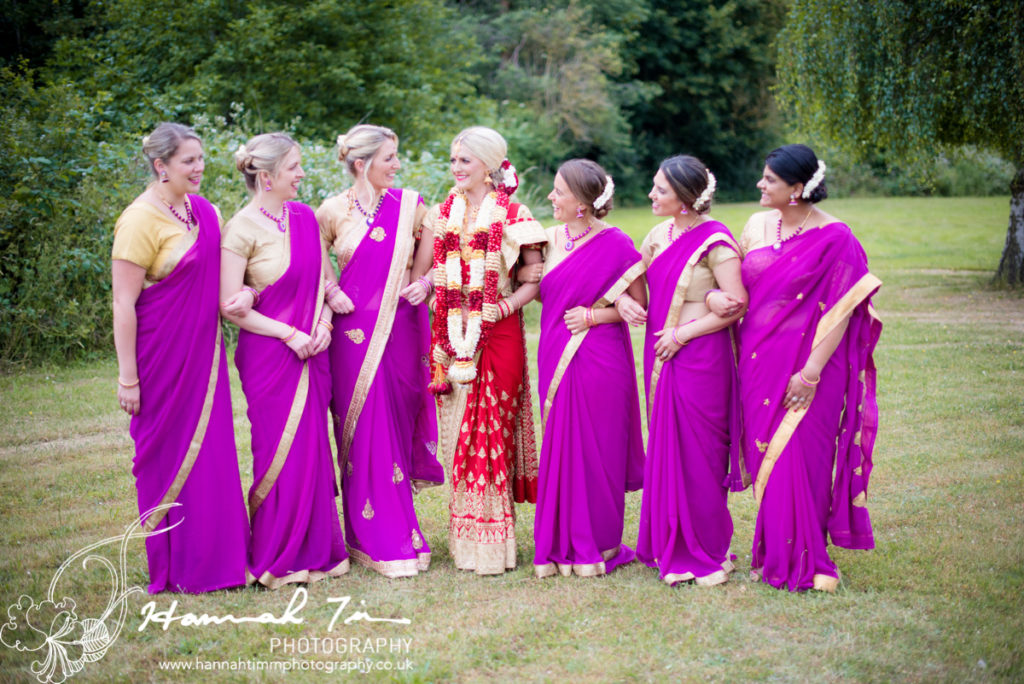 Asian Bride & Bridesmaids