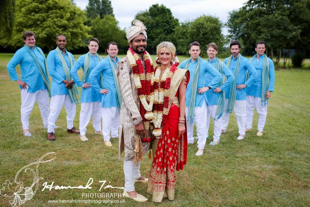 Asian bridal party