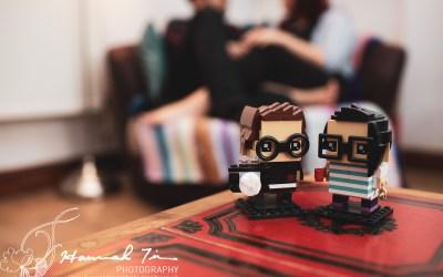 At home engagement portrait shoot
