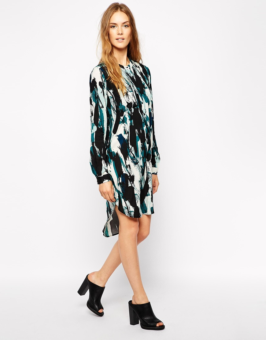 Vila paint effect shirt dress, £28