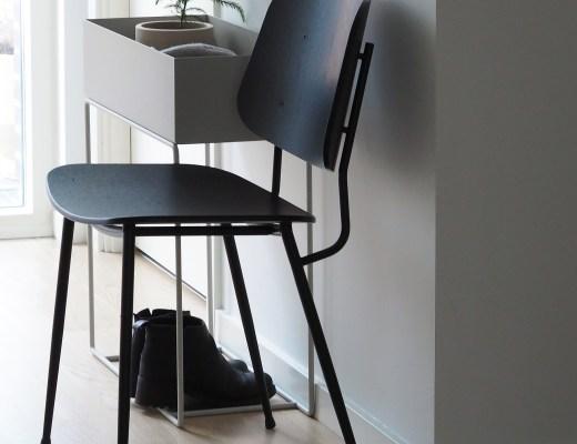 minimalist Scandinavian hallway