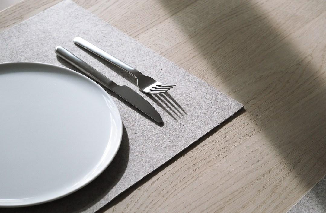 a simple Scandinavian table setting