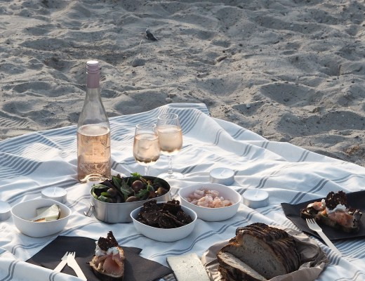A picnic on the beach in Malmö